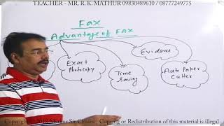 Advantage and Disadvantage of Fax | Tools of communication | Business Communication | Mathur Sir