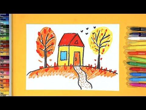 Как нарисовать картину осени