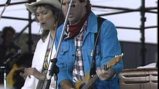 Southern Pacific and Emmylou Harris - Pink Cadillac (Live at Farm Aid 1985)