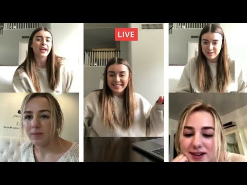 Kalani and Chloe live video chat | instagram