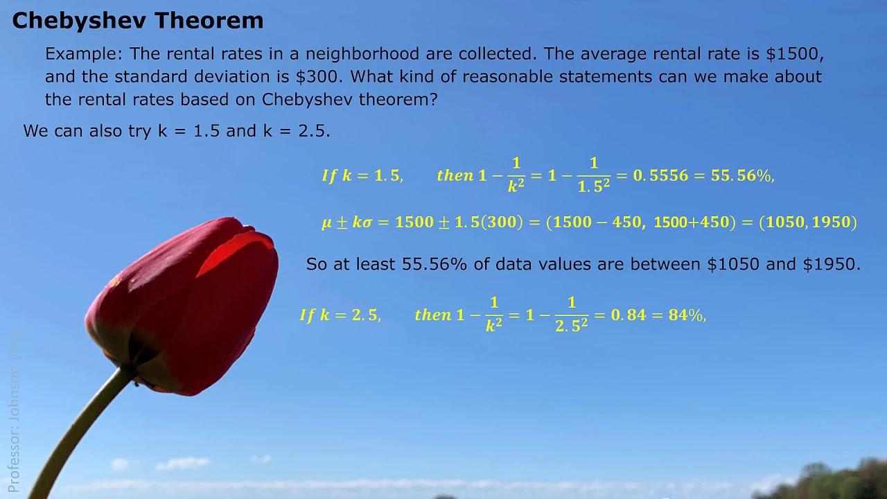 STAT Chebyshev Theorem - YouTube