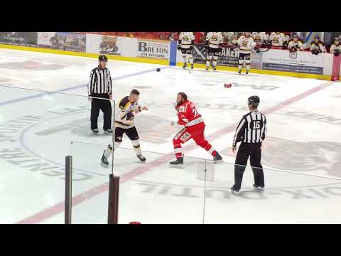 LNAH : All 4 Fights To Start The Game, Laval Vs Saint-Georges, Dec 14th 2019
