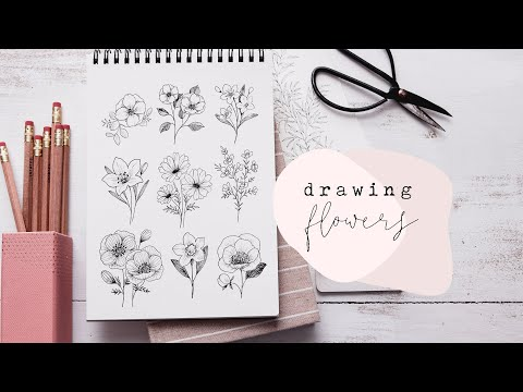 How To Draw Flowers | Florals Step By Step