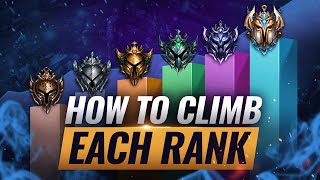 HOW TO CLIMB EACH RANK & ESCAPE YOUR ELO - League of Legends Season 10