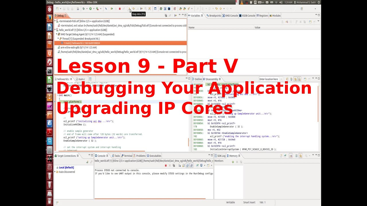 ZYNQ Training - Session 09 part V - Debugging software using Xilinx SDK