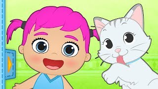 ALEX AND LILY BABY PETS 🐶 Meet the new pet, Alex and Lily's cat 🐱 Educational Cartoons