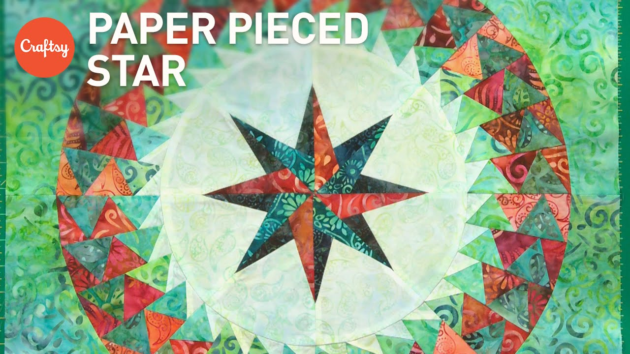Paper Piecing Stars (FPP 8-Pointed Star) | Quilting Tutorial with ... : paper pieced star quilt patterns - Adamdwight.com