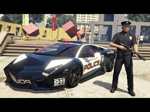 GTA 5 Mods - PLAY AS A COP MOD!! GTA 5 Police Lamborghini Patrol Mod Gameplay! (GTA 5 Mods Gameplay)
