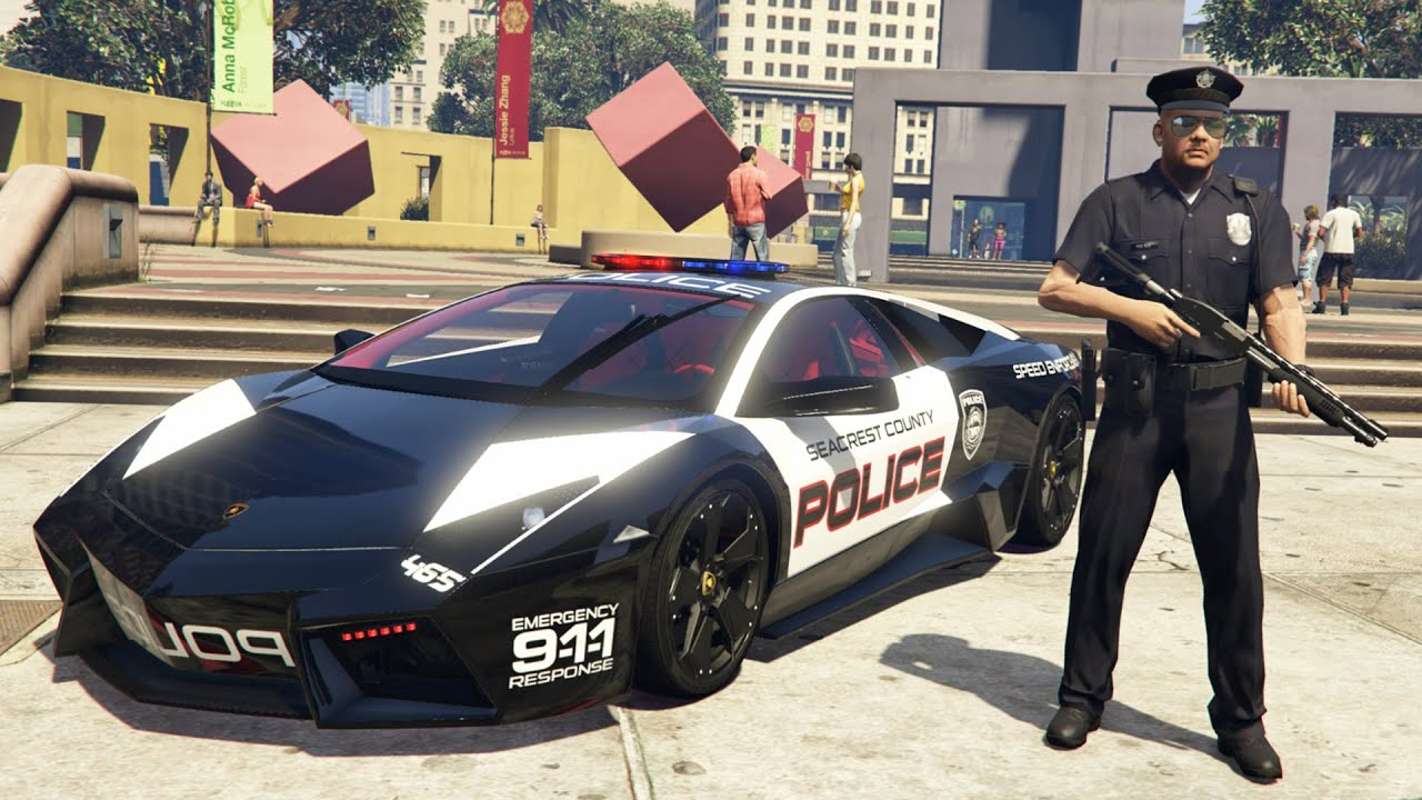 Gta 5 Mods Play As A Cop Mod Gta 5 Police Lamborghini