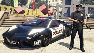 GTA 5 Mods - PLAY AS A COP MOD!! GTA 5 Police Lamborghini Patrol Mod Gameplay! (GTA 5 Mods Gameplay)