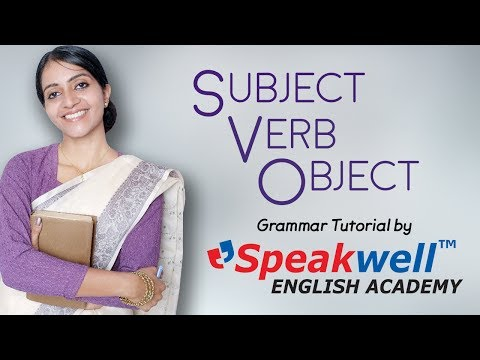 Relation between Subject Verb & Object