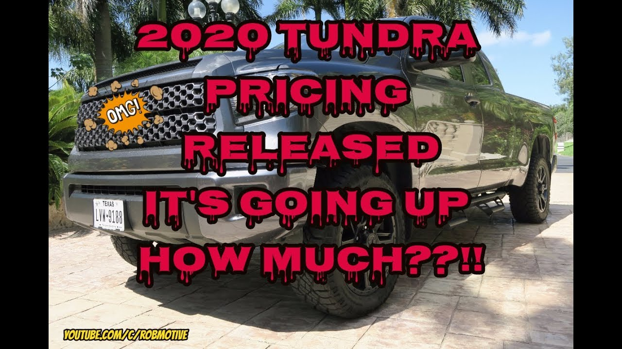 2020 Toyota Tundra Pricing Released!