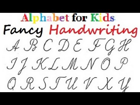 Fancy Letters Handwriting Alphabet In Colours For Kids Diy