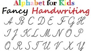 Fancy Letters Handwriting - Alphabet in colours for kids - DIY Crafts Tutorials - Giulia