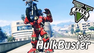 GTA 5 PC - Hulkbuster Armor Gameplay w/ Funny Fails ! (Iron man Mod)