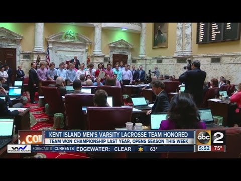 Kent Island High School men's lacrosse team honored for state championship win