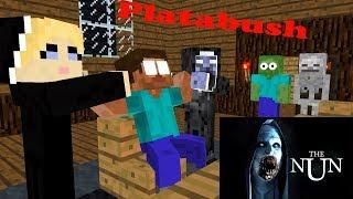 Monster School : THE HORROR NUN+PLATABUSH - Minecraft Animation