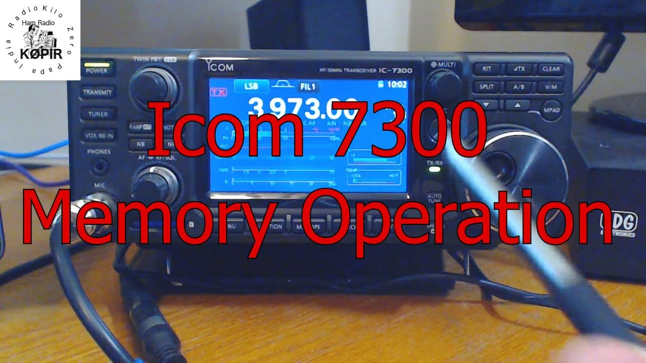 Icom 7300 Memory Operation and Scanning Emergency