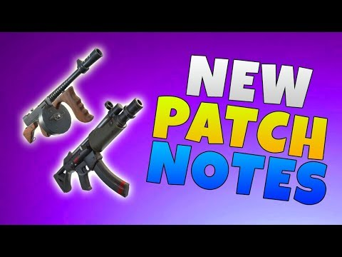Fortnite 5.0 Content Update Patch Notes | Fortnite New SMG & Typewriter Assault Rifle