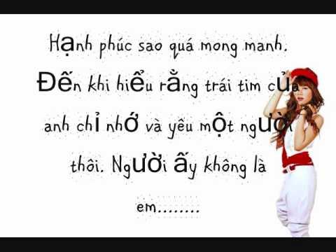 Không Phải Là Em - Thu Thủy-lyrics