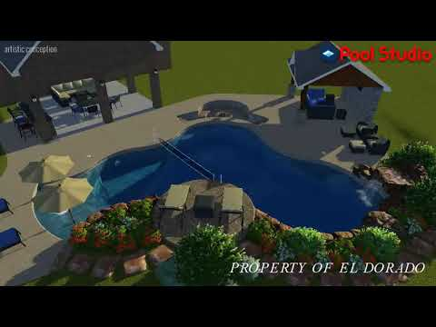 El Dorado 3D Swimming Pool Design - #1 Freeform