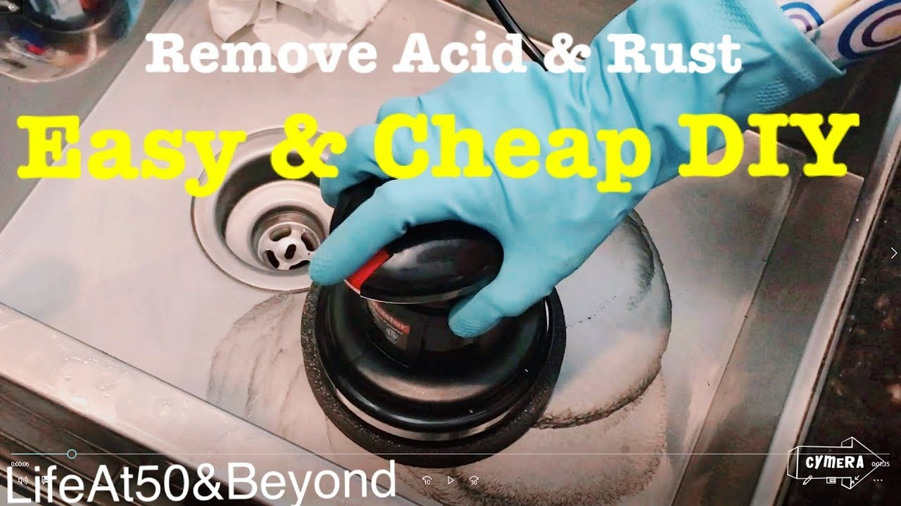 EASY & CHEAP DIY to Remove Acid and Rust Stains from Stainless Steel It  Really Works!
