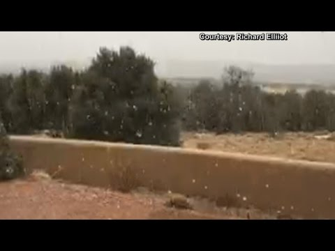 New Mexico gets hit with rain and snow