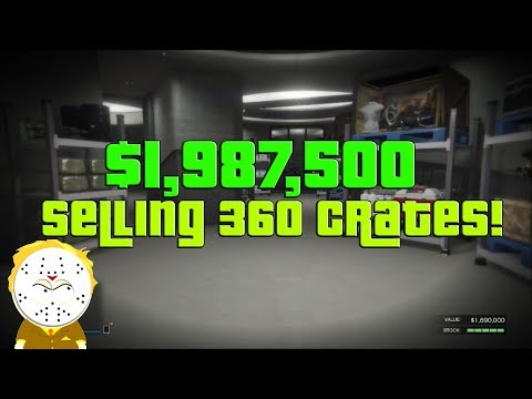 GTA Online Selling Full Nightclub All Cargo/Product 360 Crates, $1,987,500!