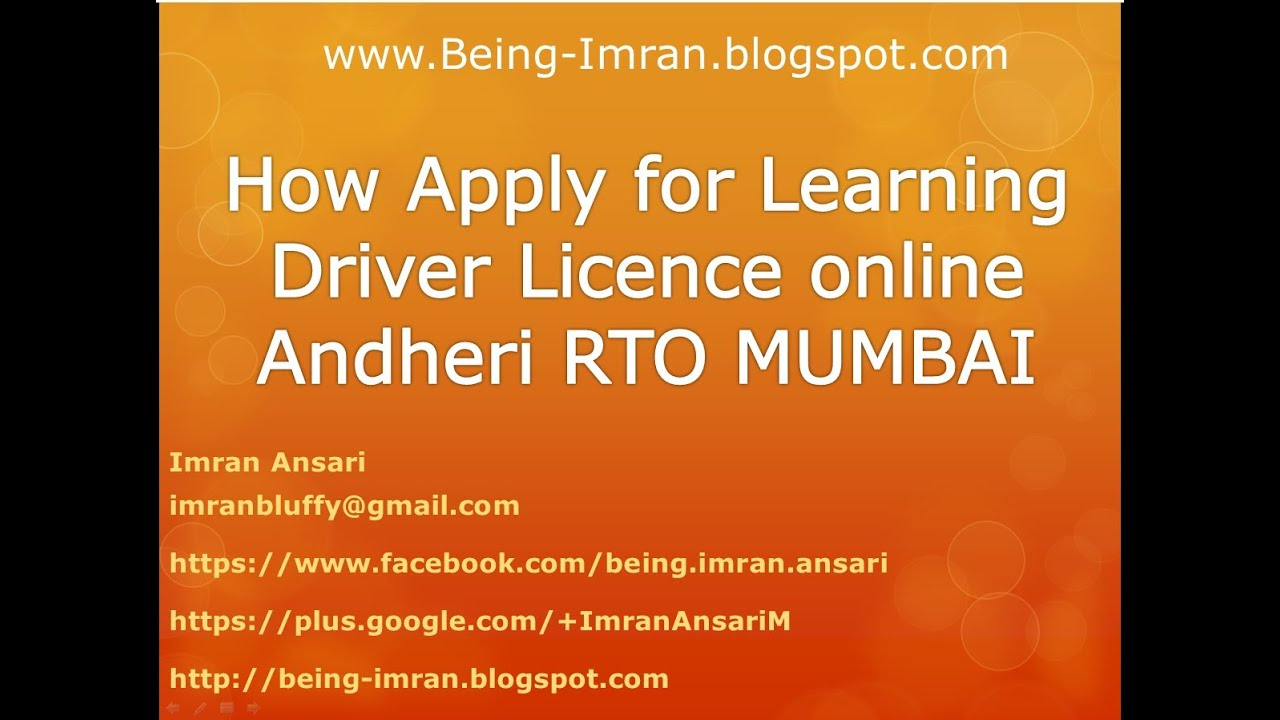 How To Apply For A Learning Driver Licence Online Procedure Mumbai Andheri  Tardeo  Rto