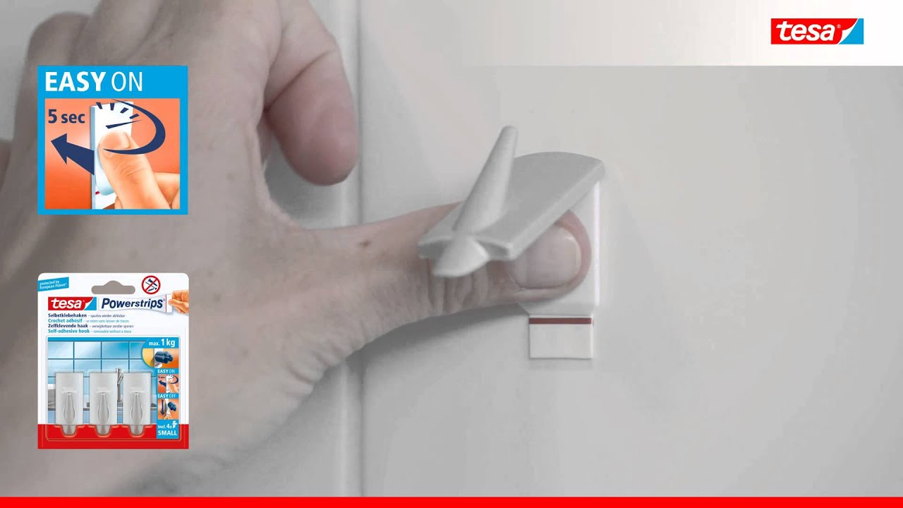 Tesa Deutschland tesa powerstrips hooks small trend matt chrome