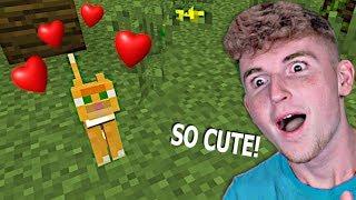 I Found A KITTEN In Minecraft!! (Cutest EVER)