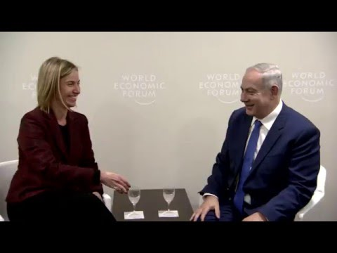 PM Netanyahu meets with High Representative of the EU for Foreign Affairs at WEF