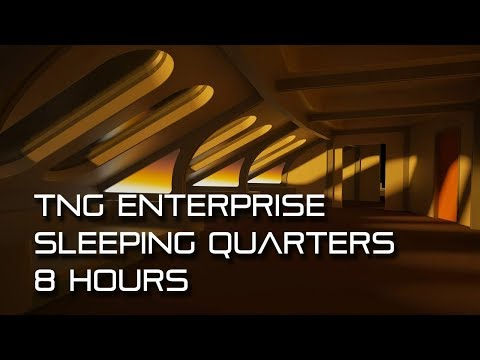 Star Trek TNG Sleeping Quarters *8 HOURS* (calming, For Sleep)