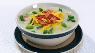 How To Make The Best Ham And Potato Soup For Cheap!