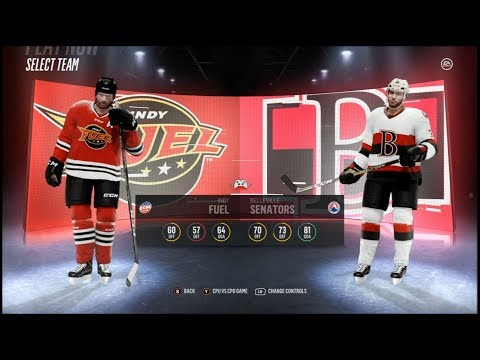 NHL 18 (Xbox One S) Indy Fuel vs Belleville Senators.
