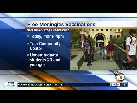 SDSU holds another free meningitis vaccination clinic