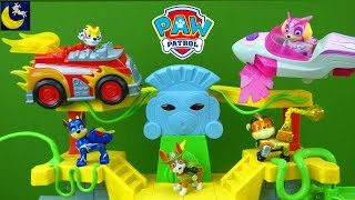 NEW Paw Patrol Mighty Pups Super Paws Toys Vehicles Fire Truck Jungle Rescue Tracker Playset Toys