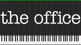 The Office Theme [Piano Tutorial] (Synthesia) // Fontenele NXT