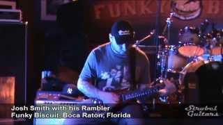 Josh Smith with his Strobel Rambler Guitar