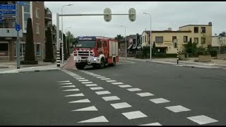 Brandweer Hellendoorn met spoed onderweg naar OMS melding bij de Hoge Es in Nijverdal