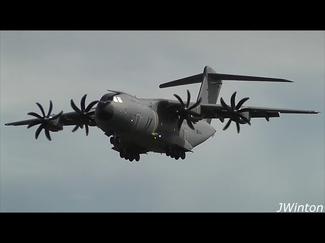 Royal Air Force A400M & KLM E175 return to Newcastle Airport