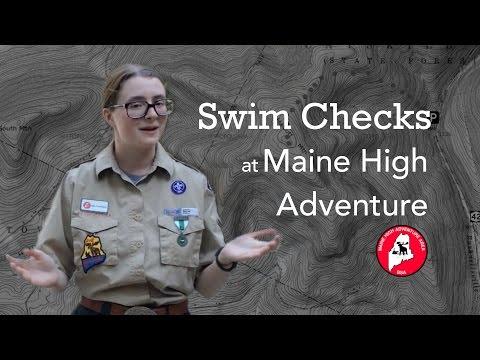 Swim Checks at Maine High Adventure