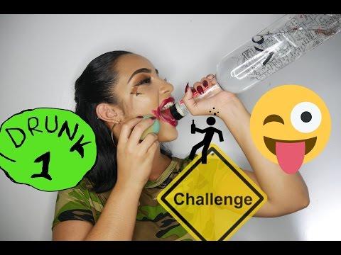 Drunk Makeup Tutorial/Challenge | KissedByKen