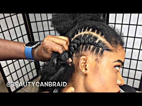 209 FEED IN BRAIDS WITH OMBRE HAIR YouTube