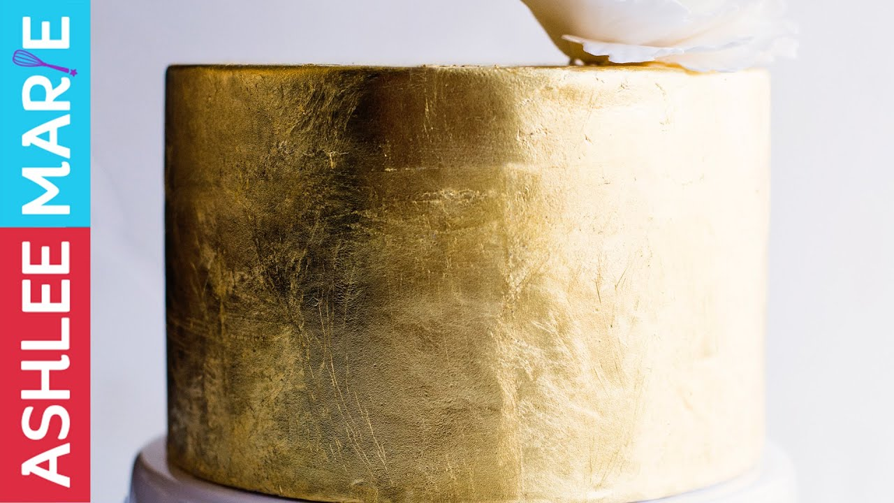 How to add Gold Leaf to a Cake - YouTube