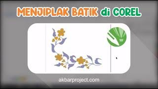 Tutorial Menjiplak Batik Dengan Corel Draw