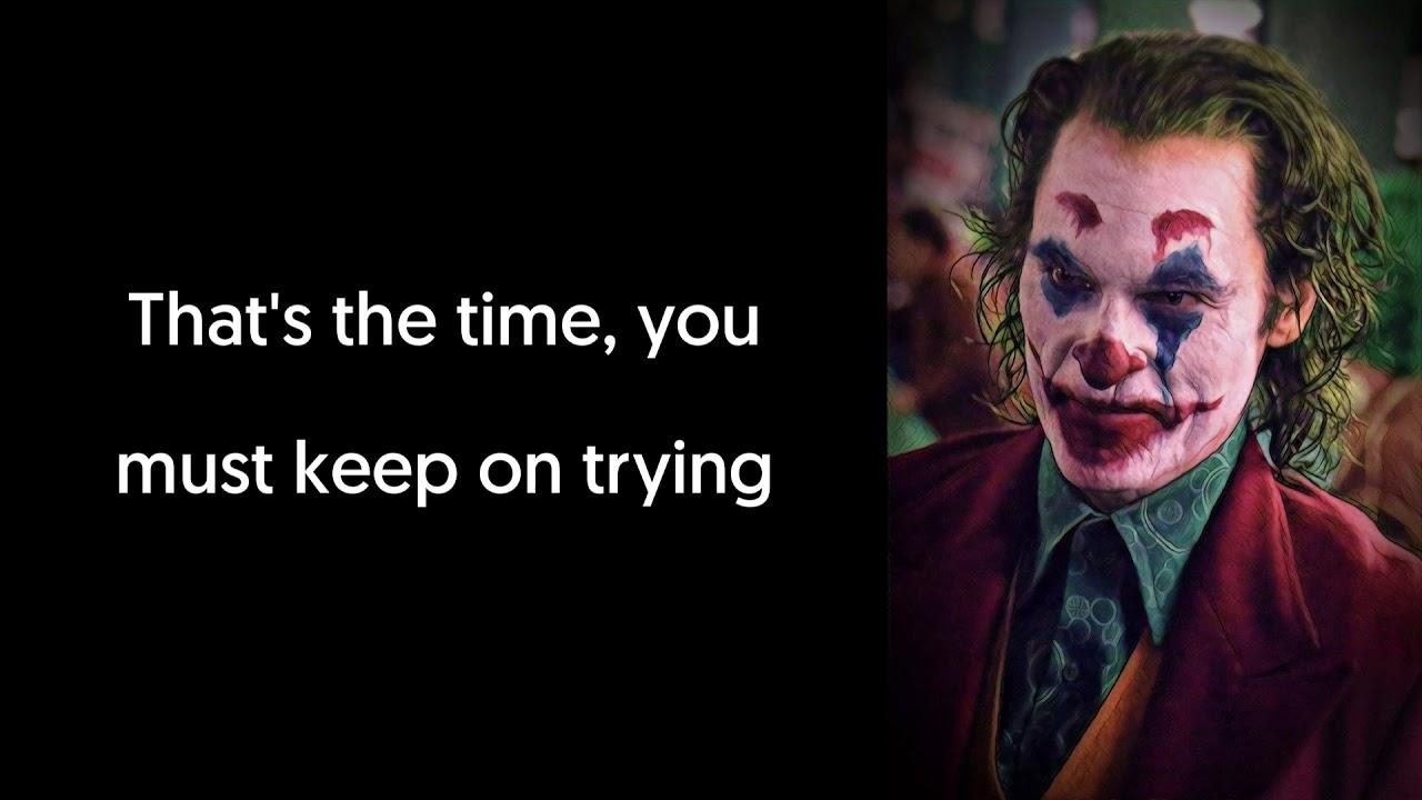 Jimmy Durante Smile Lyrics Video Song From Joker 2019 Teaser Trailer