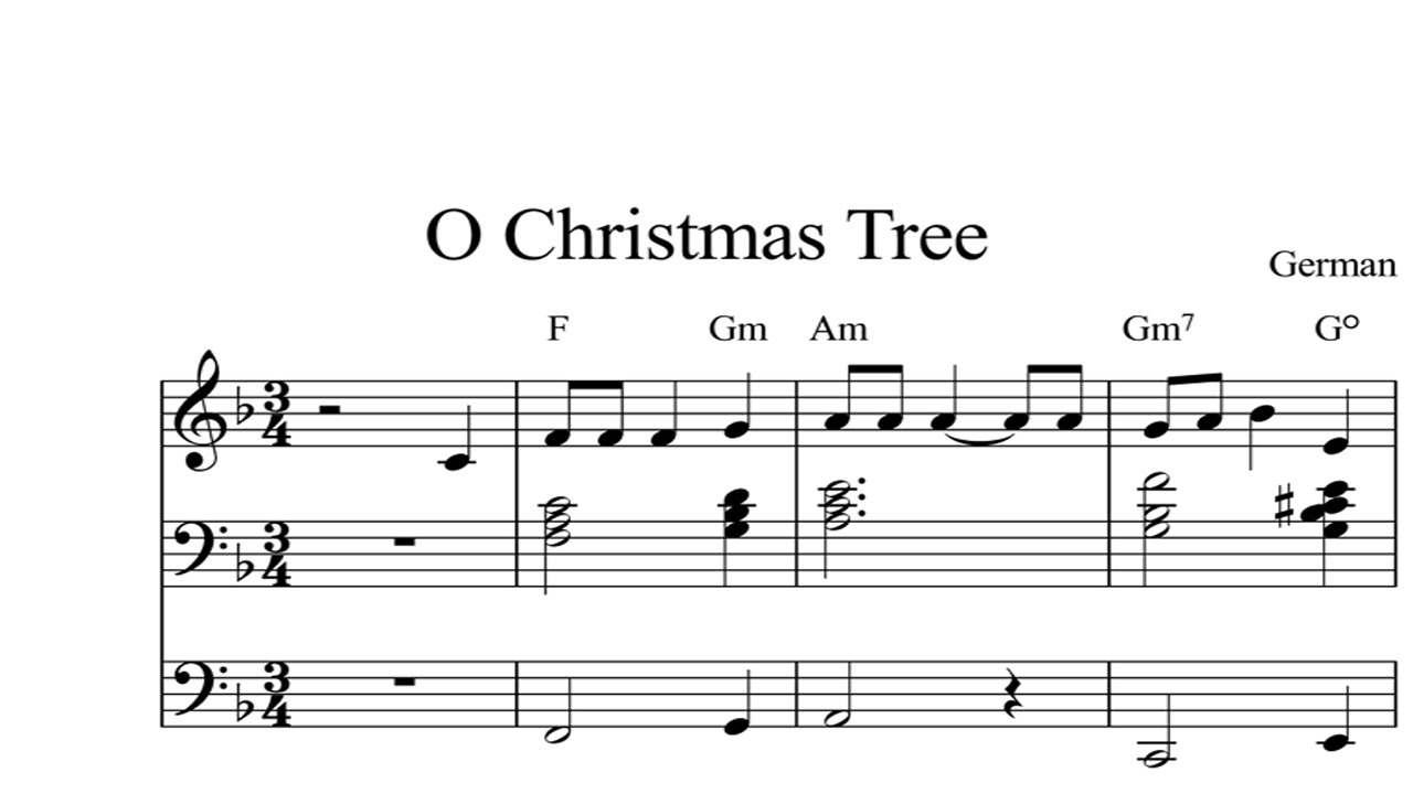 O Christmas Tree: CHRISTMAS SHEET MUSIC Piano Organ & Keyboard Book ...