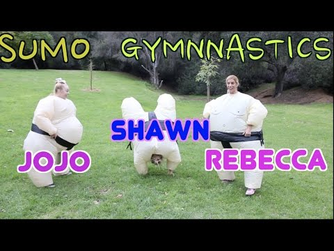 SUMO GYMNASTICS WITH JOJO SIWA & REBECCA ZAMOLO | SHAWN JOHNSON
