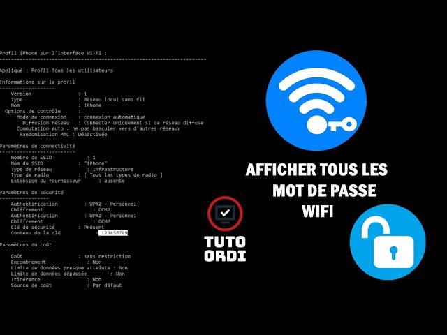 [TUTO] Afficher le mots de passe d'un WIFI avec le CMD sur Windows